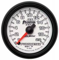 Analog Gauges - Exhaust Gas Temperature Gauges - Auto Meter - Auto Meter Phantom II Electric Pyrometer Gauge Kit - 2-1/16 in.