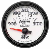 "Analog Gauges - Oil Temperature Gauges - Auto Meter - Auto Meter 2-1/16"" Phantom II Electric Oil Temperature Gauge - 140-300°"
