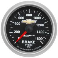 "Analog Gauges - Brake Pressure Gauges - Auto Meter - Auto Meter 2-1/16"" Brake Pressure Gauge - GM COPO Camaro"