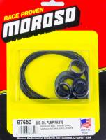 Oil Pump Components - Oil Pump Rebuild Kits - Moroso Performance Products - Moroso Dry Sump Oil Pump Replacement Parts Kit - O-Rings - Bearings - Front Seal