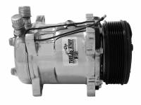 Air Conditioning & Heating - Air Conditioner Compressors - Tuff Stuff Performance - Tuff Stuff Sanden Air Conditioner Compressor 6 Groove Pulley Chrome