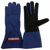 Kids Race Gear - Kids Racing Gloves - Pyrotect - Pyrotect Two Layer Driving Gloves - Blue