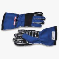 Kids Race Gear - Kids Racing Gloves - Pyrotect - Pyrotect Pro Series Reverse Stitch Gloves - Blue/Black