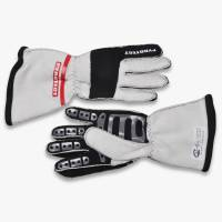 Kids Race Gear - Kids Racing Gloves - Pyrotect - Pyrotect Pro Series Reverse Stitch Gloves - White/Black