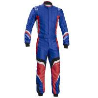 Kids Race Gear - Sparco - Sparco X-Light KS-7 Karting Suit - Blue/Red