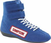Simpson Racing Shoes - Simpson Hightop Driving Shoe - $99.95 - Simpson Race Products - Simpson Hightop Driving Shoe - Blue