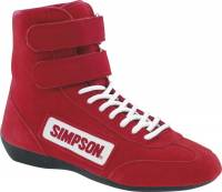 Simpson Racing Shoes - Simpson Hightop Driving Shoe - $99.95 - Simpson Race Products - Simpson Hightop Driving Shoe - Red