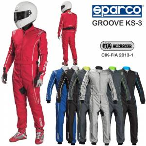 Racing Suits - Kart Racing Suits - Sparco Groove KS-3 Karting Suits - $275