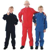 Safety Equipment - Crow Enterprizes - Crow Junior 1 Layer Proban Driving Suit - 2 Piece Design - Red