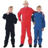 Kids Race Gear - Crow Enterprizes - Crow Junior 1 Layer Proban Driving Suit - 2 Piece Design - Red
