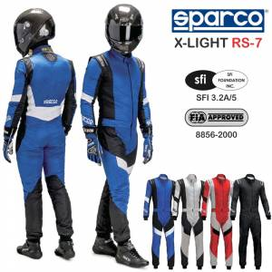 Racing Suits - Shop FIA Approved Suits - Sparco X-Light RS-7 - FIA - $1574.99