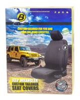 Bestop - Bestop Full Front Seat Cover Strap and Buckle Attachment