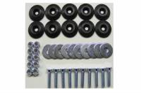 Hardware and Fasteners - Dominator Racing Products - Dominator Racing Products Flathead Countersunk Bolt Kit Countersunk Washers/Nuts - Black