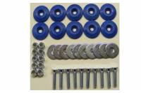 Hardware and Fasteners - Dominator Racing Products - Dominator Racing Products Flathead Countersunk Bolt Kit Countersunk Washers/Nuts - Blue