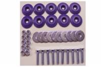 Hardware and Fasteners - Dominator Racing Products - Dominator Racing Products Flathead Countersunk Bolt Kit Countersunk Washers/Nuts - Purple