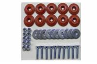 Hardware and Fasteners - Dominator Racing Products - Dominator Racing Products Flathead Countersunk Bolt Kit Countersunk Washers/Nuts - Red