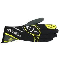 Racing Gloves - Kart Racing Gloves - Alpinestars - Alpinestars Tech 1-K Karting Glove - Black/Anthracite/Yellow Fluo