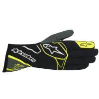 Racing Gloves - Kart Racing Gloves - Alpinestars - Alpinestars Tech 1-K Karting Glove - Black/Anthracite/Yellow Fluo