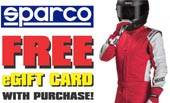 Sparco Suits Free Pit Stop USA eGift Card Offer