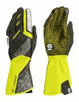 Racing Gloves - Kart Racing Gloves - Sparco - Sparco Motion KG-5 Karting Glove - Yellow