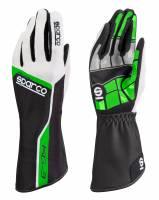 Racing Gloves - Kart Racing Gloves - Sparco - Sparco Track KG-3 Karting Glove - Green