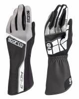 Racing Gloves - Kart Racing Gloves - Sparco - Sparco Track KG-3 Karting Glove - Black
