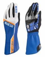 Racing Gloves - Kart Racing Gloves - Sparco - Sparco Track KG-3 Karting Glove - Blue