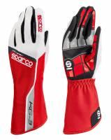 Racing Gloves - Kart Racing Gloves - Sparco - Sparco Track KG-3 Karting Glove - Red
