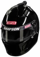 Safety Equipment - Helmets - Simpson Race Products - Simpson Air Inforcer Shark Helmet - Black