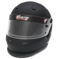 Kids Race Gear - Kids Helmets - Velocity Race Gear - Velocity Outlaw Youth Helmet - Flat Black