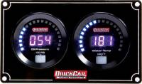Dash Gauge Panels - 2 Gauge Dash Panels - QuickCar Racing Products - QuickCar Digital 2-Gauge Panel OP/WT