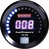 Gauges - Digital Fuel Pressure Gauges - QuickCar Racing Products - QuickCar Digital Fuel Pressure Gauge 0-15