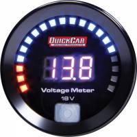 Digital Gauges - Digital Voltmeter Gauges - QuickCar Racing Products - QuickCar Digital Volt Gauge 8-18