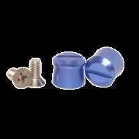 Tear-Offs - Tear-Off Buttons - Pulse Racing Innovations - Pulse Aluminum Tear Off Posts - Blue