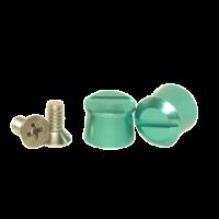 Tear-Offs - Tear-Off Buttons - Pulse Racing Innovations - Pulse Aluminum Tear Off Posts - Green