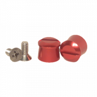 Tear-Offs - Tear-Off Buttons - Pulse Racing Innovations - Pulse Aluminum Tear Off Posts - Red