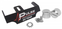 Tear-Offs - Tear-Off Buttons - Pulse Racing Innovations - Pulse EZ Tear Black w/ Silver Tear Off Posts