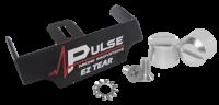 Tear-Offs - Tear-Off Buttons - Pulse Racing Innovations - Pulse EZ Tear Black w/ Silver Tear Off Posts