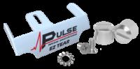 Tear-Offs - Tear-Off Buttons - Pulse Racing Innovations - Pulse EZ Tear White w/ Silver Tear Off Posts