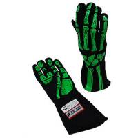 Safety Equipment - RJS SAFETY - RJS Double Layer Skeleton Gloves - Lime Green - Medium