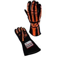 Safety Equipment - RJS SAFETY - RJS Double Layer Skeleton Gloves - Orange - Medium