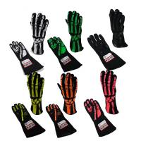 RJS Racing Equipment - RJS Double Layer Skeleton Gloves - White - X-Large - Image 2