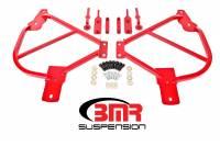 Chassis Components - Subframe Connectors - BMR Suspension - BMR Suspension Subframe Connectors - Bolt-In  - Black Hammertone - 2010-15 Camaro
