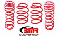 "Ford Mustang (5th Gen) Suspension - Ford Mustang (5th Gen) Coil Springs - BMR Suspension - BMR Suspension Lowering Springs - 1.5"" Drop - Red - 2005-14 Mustang"
