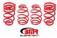 """Chevrolet Camaro (5th Gen) Suspension - Chevrolet Camaro (5th Gen) Springs - BMR Suspension - BMR Suspension Lowering Springs - 1"""" Drop - Red - 2010-15 Camaro"""