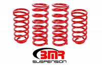 "Ford Mustang (5th Gen) Suspension - Ford Mustang (5th Gen) Coil Springs - BMR Suspension - BMR Suspension Lowering Springs - 1"" Drop  - Red - 1979-04 Mustang"