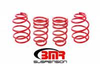 """Chevrolet Camaro (5th Gen) Suspension - Chevrolet Camaro (5th Gen) Springs - BMR Suspension - BMR Suspension Lowering Springs - 1.25"""" Drop - Red - 2010-15 Camaro"""