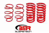 Ford Mustang - Ford Mustang (6th Gen 15-Up) - BMR Suspension - BMR Suspension Lowering Springs - Drag Version - Red - 2015-17 Mustang