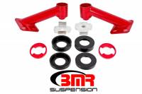 Street Performance USA - BMR Suspension - BMR Suspension Cradle Bushing Lockout Kit - Black Hammertone - 2015-17 Mustang