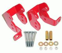 Street Performance USA - BMR Suspension - BMR Suspension Control Arm Relocation Bracket  - Red - 1982-02 GM F-Body